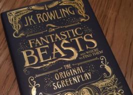 """Roteiro de """"Animais Fantásticos e Onde Habitam"""" já virou livro e a capa é linda!"""