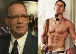 """Tom Hanks está interessado em ter um romance com Channing Tatum no remake de """"Splash"""""""
