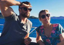 """Chris Hemsworth e esposa tiram sarro dos boatos sobre divórcio: """"Você ainda me ama, né?"""""""