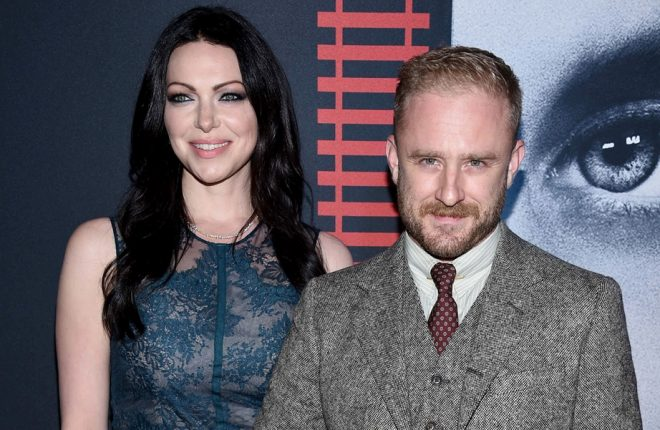 """NEW YORK, NY - OCTOBER 04:  Laura Prepon (L) and Ben Foster attend the """"The Girl On The Train"""" New York Premiere at Regal E-Walk Stadium 13 on October 4, 2016 in New York City.  (Photo by Dimitrios Kambouris/Getty Images)"""