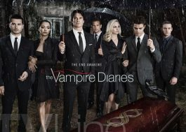 "Elenco de ""The Vampire Diaries"" está de luto em pôster da temporada final"