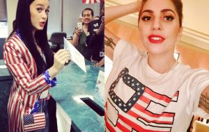 Lady Gaga, Katy Perry e mais famosos compartilham fotos incentivando o voto nos EUA!