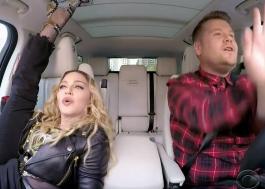 Madonna canta os hits, não para quieta e conta que beijou Michael Jackson no carpool karaoke