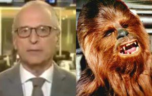 Jornalista imita o Chewbacca ao falar da morte de Carrie Fisher e a internet acha bem deselegante!