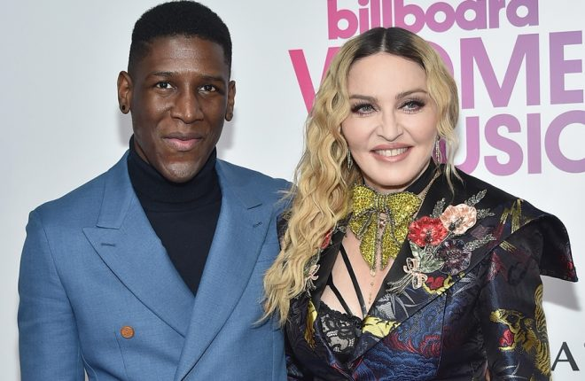 NEW YORK, NY - DECEMBER 09:  Labrinth and Madonna attend the Billboard Women in Music 2016 event on December 9, 2016 in New York City.  (Photo by Mike Coppola/Getty Images)