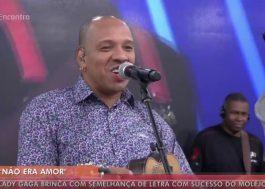 """É amor sim: Molejo canta trechinho de """"Perfect Illusion"""" no programa da Fátima Bernardes!"""