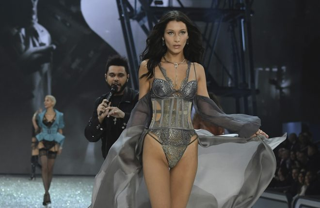 PARIS, FRANCE - NOVEMBER 30:  Bella Hadid walks the runway at the Victoria's Secret Fashion Show on November 30, 2016 in Paris, France.  (Photo by Pascal Le Segretain/Getty Images for Victoria's Secret)