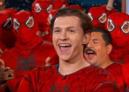 Tom Holland e uma legião de Homens-Aranha foram ao programa do Jimmy Kimmel