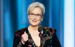 Globo de Ouro: Meryl Streep faz discurso impactante defendendo estrangeiros, arte e contra Trump
