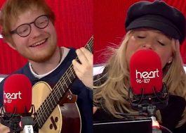 Ed Sheeran e Emma Bunton cantam música das Spice Girls