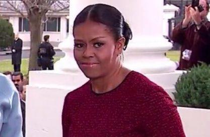 Michelle vira meme na posse de Trump