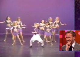 Astro de La La Land, Ryan Gosling fica todo constrangido ao se ver dançando quando criança
