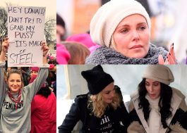 """Supergirl"", Charlize Theron, Madonna e várias artistas marchando por direitos no Women's March"