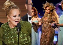 """Após vencer Beyoncé no Grammy, Adele confessa: """"era a vez dela de ganhar"""""""