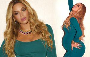 Beyoncé ostentando a gravidez e muitas jóias em fotos de festa pré-Oscar