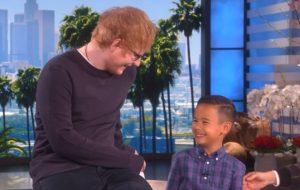 Ed Sheeran surpreende fã no programa da Ellen e divulga nome da nova música