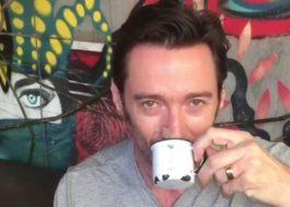 """Hugh Jackman já está em São Paulo """"tomando seu primeiro pingado"""""""