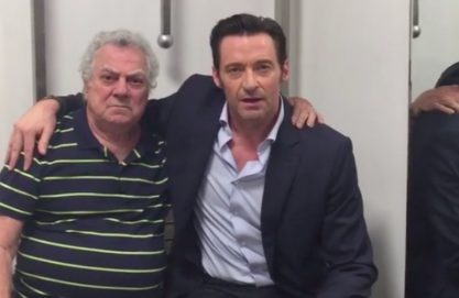 Hugh e o dublador do Wolverine