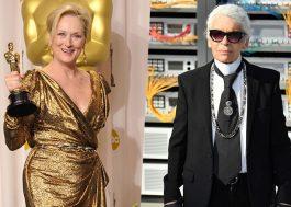 Meryl Streep acusa Karl Lagerfeld de difamação por causa de vestido para o Oscar