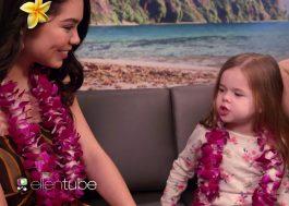 """Ellen leva fã de Moana para cantar """"How Far I'll Go"""" com a própria Auli'i Cravalho!"""