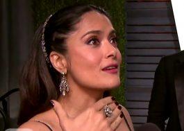 """Salma Hayek soube do erro no Oscar antes de todo mundo: """"Eu pensei 'O que eles vão fazer agora?'"""""""