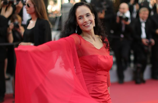"""CANNES, FRANCE - MAY 21:  Actress Sonia Braga attends the """"Elle"""" Premiere during the 69th annual Cannes Film Festival at the Palais des Festivals on May 21, 2016 in Cannes, France.  (Photo by Neilson Barnard/Getty Images)"""