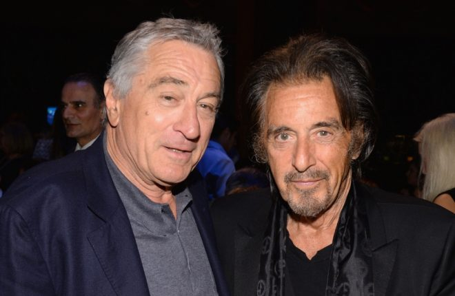 NEW YORK, NY - APRIL 02:  Robert De Niro and Al Pacino attend the SeriousFun Children's Network Gala at Cipriani 42nd Street on April 2, 2014 in New York City.  (Photo by Larry Busacca/Getty Images)