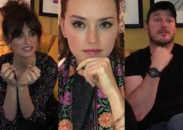 """Penélope Cruz, Chris Pratt e mais tentam arrancar informações de """"Star Wars"""" da Daisy Ridley"""