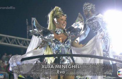 Xuxa volta à Globo sambando