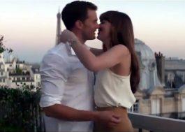 """Anastasia tá toda deslumbrada viajando com Christian Grey em teaser de """"50 Tons de Liberdade"""""""