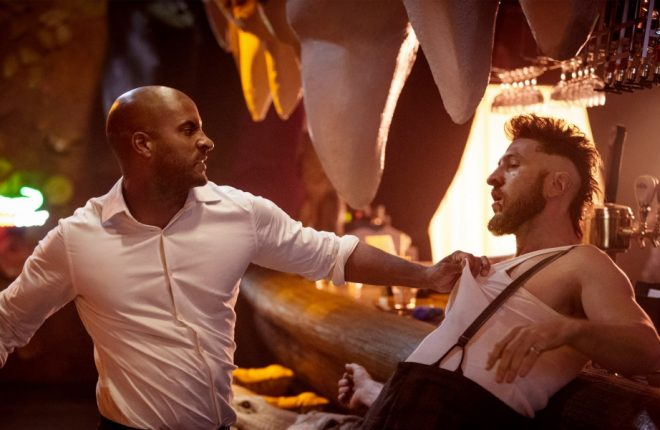 American Gods. Season 1, Episode 1 AIr Date: 2016/2017 Pablo Schreiber as Mad Sweeney, Ricky Whittle as Shadow Moon