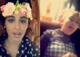 Camila Cabello faz festa do pijama com a Charli XCX e mais duas compositoras