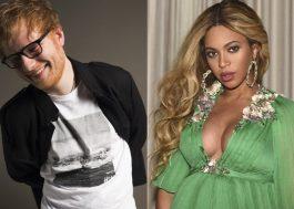 """Ed Sheeran: """"Mesmo se minha carreira acabar amanhã, eu já cantei com a Beyoncé"""""""