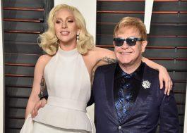 """Elton John escreveu música com Lady Gaga para o novo """"Nasce Uma Estrela"""""""
