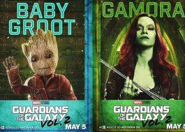 """""""Guardiões da Galáxia Vol. 2"""" ganha novos pôsteres bem lindos!"""
