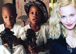 Madonna faz vídeo maravilhoso com as filhas recebendo a primeira boneca <3