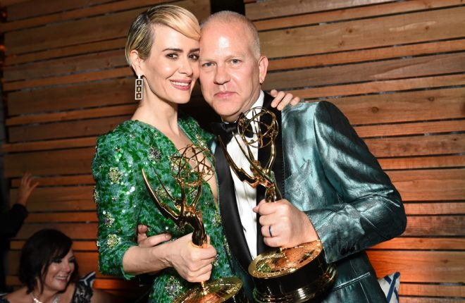 LOS ANGELES, CA - SEPTEMBER 18:  Actors Sarah Paulson and Ryan Murphy attends the FOX Broadcasting Company, FX, National Geographic And Twentieth Century Fox Television's 68th Primetime Emmy Awards after Party at Vibiana on September 18, 2016 in Los Angeles, California.  (Photo by Emma McIntyre/Getty Images)
