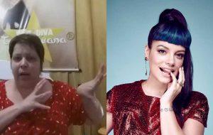 """Lily Allen retuíta gif de Tulla Luana """"neuvosar"""" pedindo por novas músicas"""
