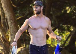 Ficamos tão felizes com essas fotos do Chris Hemsworth na praia que parece que o feriado já chegou!