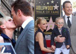 Chris Pratt recebe estrela na Calçada da Fama e leva toda a família (olha essas fotos fofas!)
