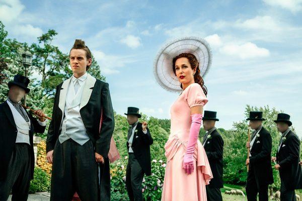 American Gods 2017 - Season 1 Bruce Langley and Gillian Anderson