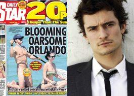 Orlando Bloom disse que não ficaria peladão naquela posição se soubesse que seria fotografado