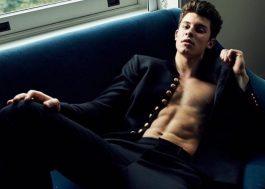 Saíram mais fotos do Shawn Mendes para a L'Uomo Vogue e aqui não tá nada bem
