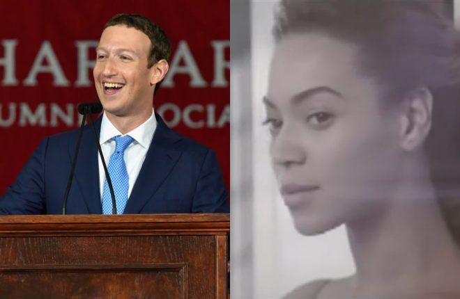 beyoncé e mark zuckerberg