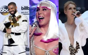 Drake, Cher e Celine Dion brilham em noite do Billboard Music Awards