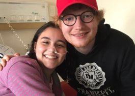 Ed Sheeran surpreende fã que está internada em hospital em Curitiba