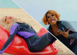 """Bob The Drag e Katya são as melhores salva-vidas EVER nesse lip sync do tema de """"Baywatch"""""""