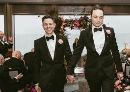 Jim Parsons (o Sheldon!) e Todd Spiewak se casam após 14 anos juntos