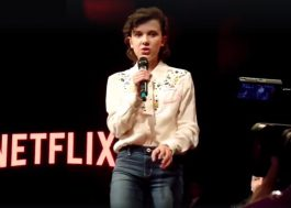 "Millie Bobby Brown canta ""Firework"" e ""Ave Maria"" na ComicCon Argentina"