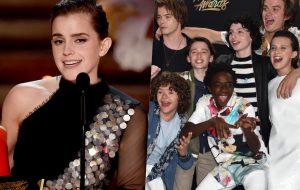 """""""A Bela e a Fera"""" e """"Stranger Things"""" vencem o MTV Movie & TV Awards; veja o que rolou!"""